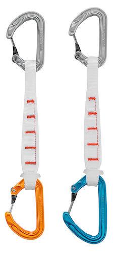 Petzl Ange Fitness - dégaines ultra légères en orange et bleu